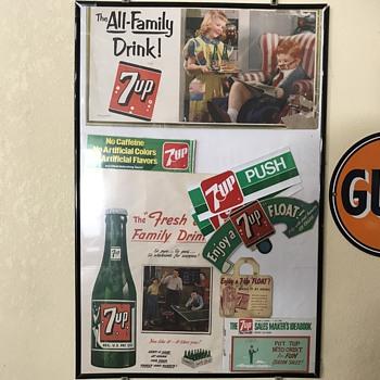 7 Up soda pop  paper advertising  - Advertising