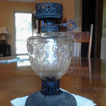Help! Oil lamp - antique? Or reproduction? - Lamps