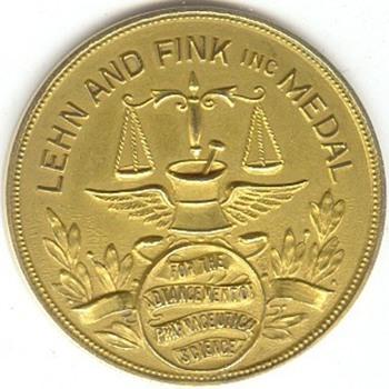 Lehn & Fink Gold Pharmaceutical Prize Medal