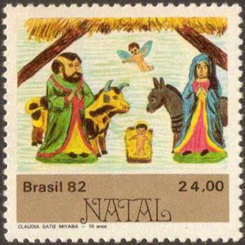 "1982 - Brazil ""Christmas"" Postage Stamps - Stamps"