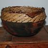 Raku Pot With a Pine Needle Rim