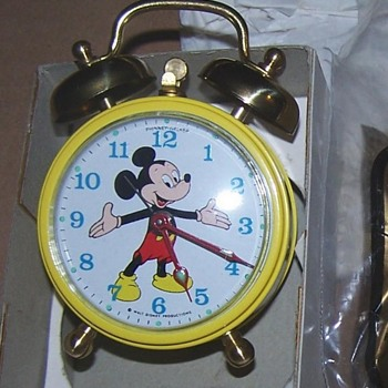 1969 Phinney Walker Mickey Mouse Alarm Clock - Clocks
