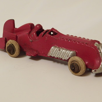 "Cast Iron Boat Tail Race Car...5 1/2"" L - Marked Hubley USA - Model Cars"
