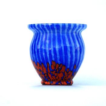 WELZ Stripes and Spots Vase - Art Glass