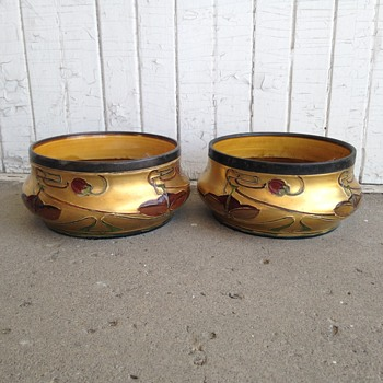 Pair Of Art Nouveau Jardinieres By Thomas Forrester & Sons C.1900