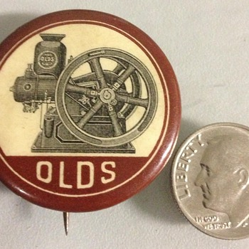 Olds Steam Engine Pin ? - Advertising