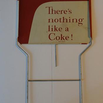 1958 Coca Cola display sign. - Coca-Cola