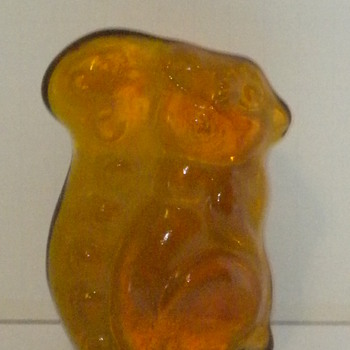 Old Squirrel Paperweight - Art Glass