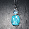 Silver Moonstone & Turquoise Necklace