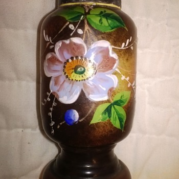 Highly Decorated Milk Glass Shaker