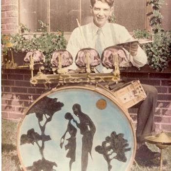 1930s Drummer and Girlfriend - Music Memorabilia