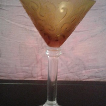 Large Martini Glass, gold - Michael Weems-like - Glassware