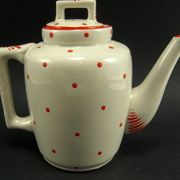 Portieux Vallerysthal (?) Deco Teapot - Pottery