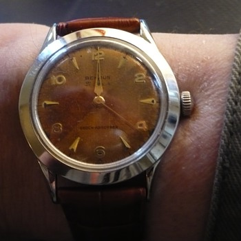 1950s Benrus Steel case and copper 1/4erd colored dial - Wristwatches