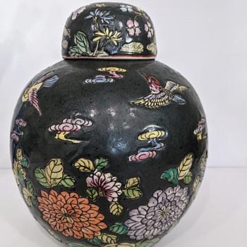 Chinese Ginger Jar Famille Noir - Asian