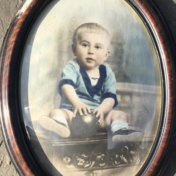 Original Colorized Childhood Portrait of Deceased British Photographer David Hamilton - Photographs