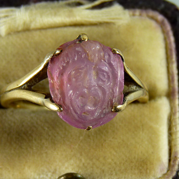 A Gold Ring set with an Ancient Carved Hardstone of Medusa - But How Ancient? - Fine Jewelry