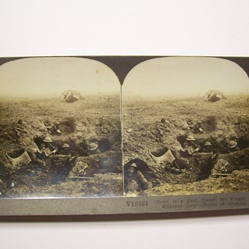 TO JSCOTT AND SCOTTV GRAPHIC WWI AND BAR STEREO VIEWS - Photographs