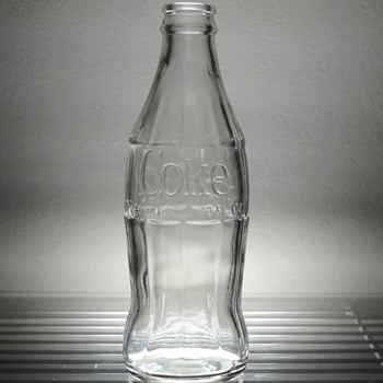 1978 Coca Cola Coke Soda Bottle Anchor Hocking Glass Embossed Clear 10 Ounces Vintage Collectible - Bottles