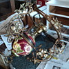 Majolica Gone With The wind hanging Lamp