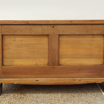 Antique Poplar Chest mortise tenon pegged - Furniture