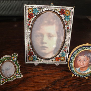 Antique Flower Micro Mosaic Photo Frame - Fine Jewelry