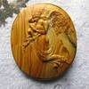 Antique Wood Angel Pin