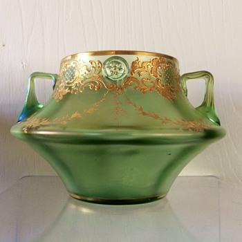Loetz Olympia Max Emanuel Enamelled Handled Prunt Vase PN 346, Circa 1898 - Art Nouveau