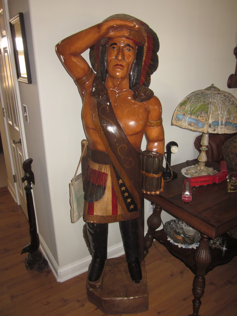 Vintage 6 Foot Cigar Indian Statue Collectors Weekly