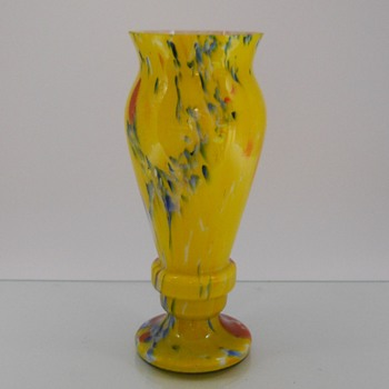 Czech Art Deco Vase - Art Glass