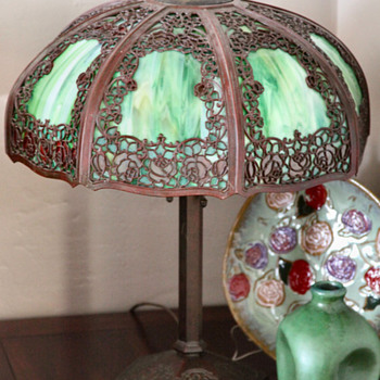 My Handel Teroca Rambling Rose Lamp - Lamps