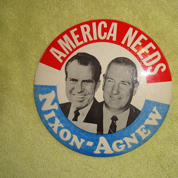 Nixon-Agnew Button from 1968. - Medals Pins and Badges