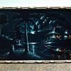 Vintage Stretched Black Velvet Cloth Oil painting SIGNED