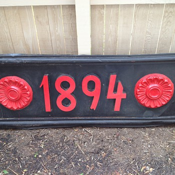 """1894"" metal sign - Signs"