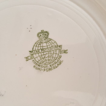 Does anyone know the name of this Globe Pottery Pattern? - China and Dinnerware