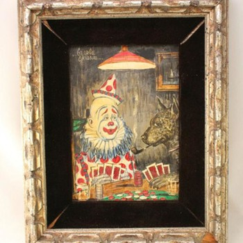 Three Original Comical Clown Paintings by  George Crionas  - Fine Art
