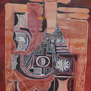 Nigerian Artist Tayo Adenaike ?? from Nsukka Group? - Fine Art