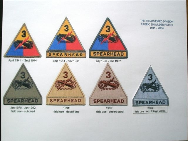 U S  Army 3rd Armored Division shoulder Patches | Collectors Weekly