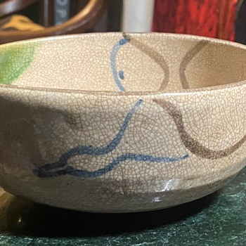 Large Oribe Bowl - with a spout? - Asian