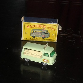 Matchbox Comer Milk Delivery Truck 1962 D Style Box - Model Cars