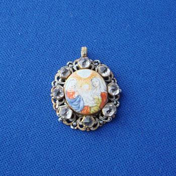 Rock Crystal Religious Pendant - Fine Jewelry