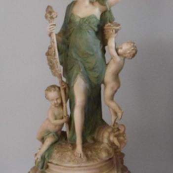 5 1/2 foot tall Granitex Figural Lamp - Lamps