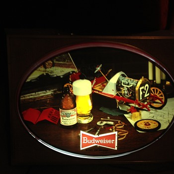 Vintage Budweiser Pictorial Sign