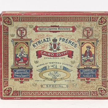 Kyriazi Frères Cigarette Tin (Egypt), Early 20th Century - Tobacciana