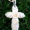Antique Or Vintage Carved Ivory (?) Rose Motif Necklace Thrift Shop Find $2.50