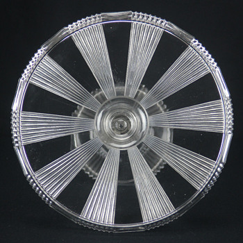 U'S. Glass #15003 'Pleating' cake stand c1891 - Glassware