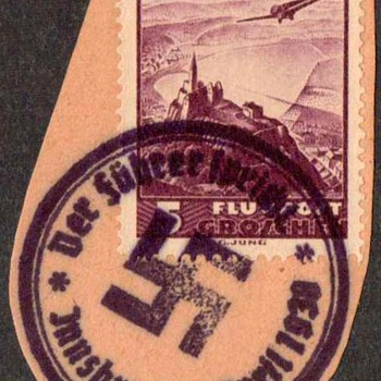 1938 - Austrian Stamp with Nazi Postmark - Stamps