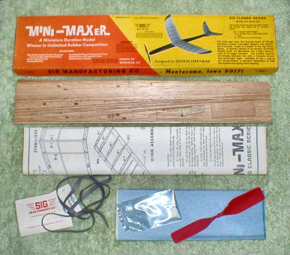 1974 Sig Balsa Airplane Kit Quot Mini Maxer Quot Collectors Weekly