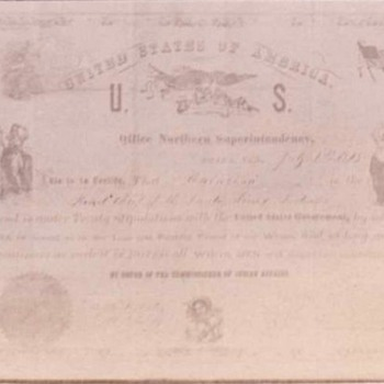 Native American treaty/ loyalty document - Photographs