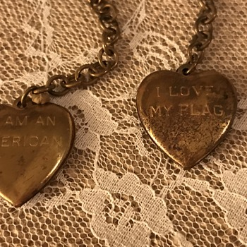 Heart lockets with Patriotic inscription  - Fine Jewelry